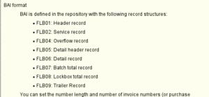 SAP FICO Lockbox record layout