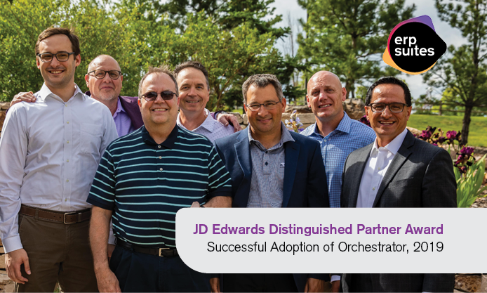 ERP Suites' 2019 Distinguished Partner Award team