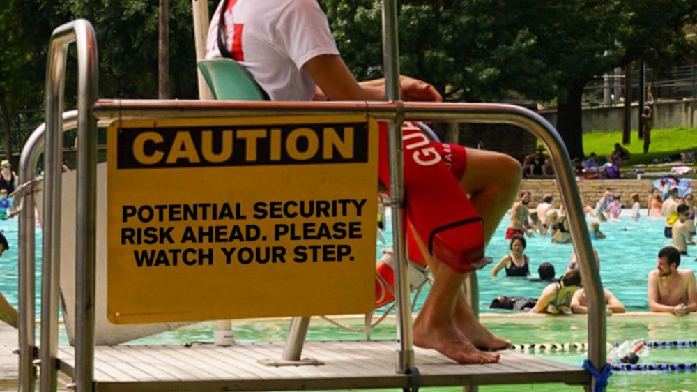 Lifeguard at public pool